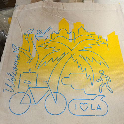ink + cotton live screen printing - GOOD Cities Project